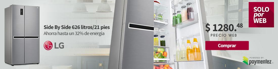 Refrigeradora Side by Side LG 626 Litros 21 pies Paymentez
