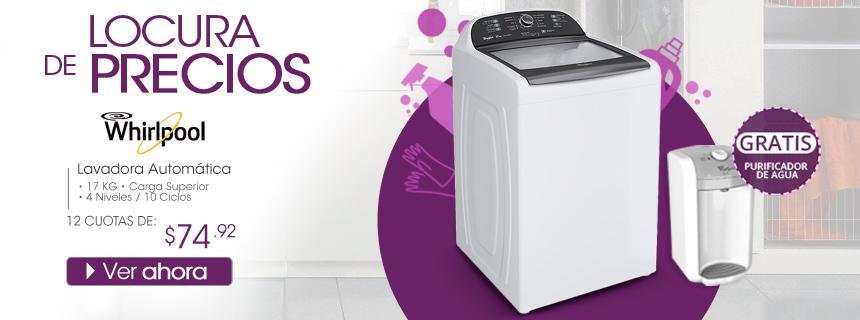 Lavadora Automática Whirpool 8MWTW1715CW + Purificador