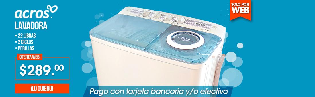 Lavadora Semiautomática Acros  22 Libras