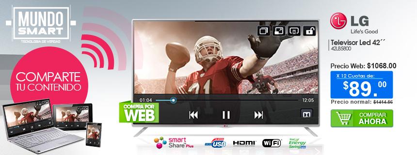 TV Smart LG 42 Pulgadas Full HD Wi-fi. Compra Ahora!