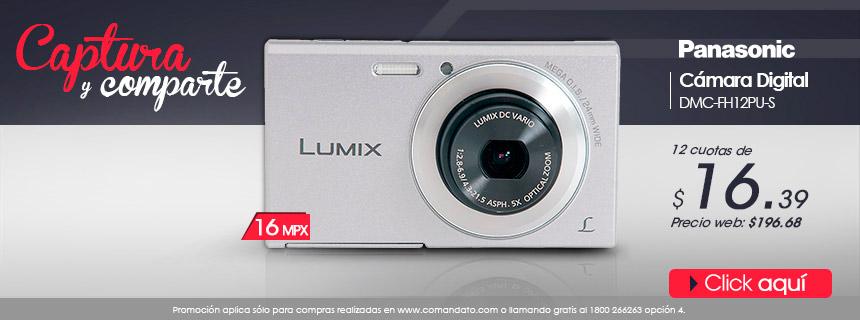 Captura y comparte con Panasonic. Cámara Digitál de 16 MP, sólo 12 cuotas de $16.39. Compra Aquí!