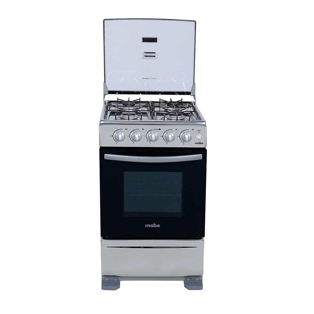 Cocina a gas mabe tx5120ex1 4 hornillas horno acero for Cocinas economicas a gas