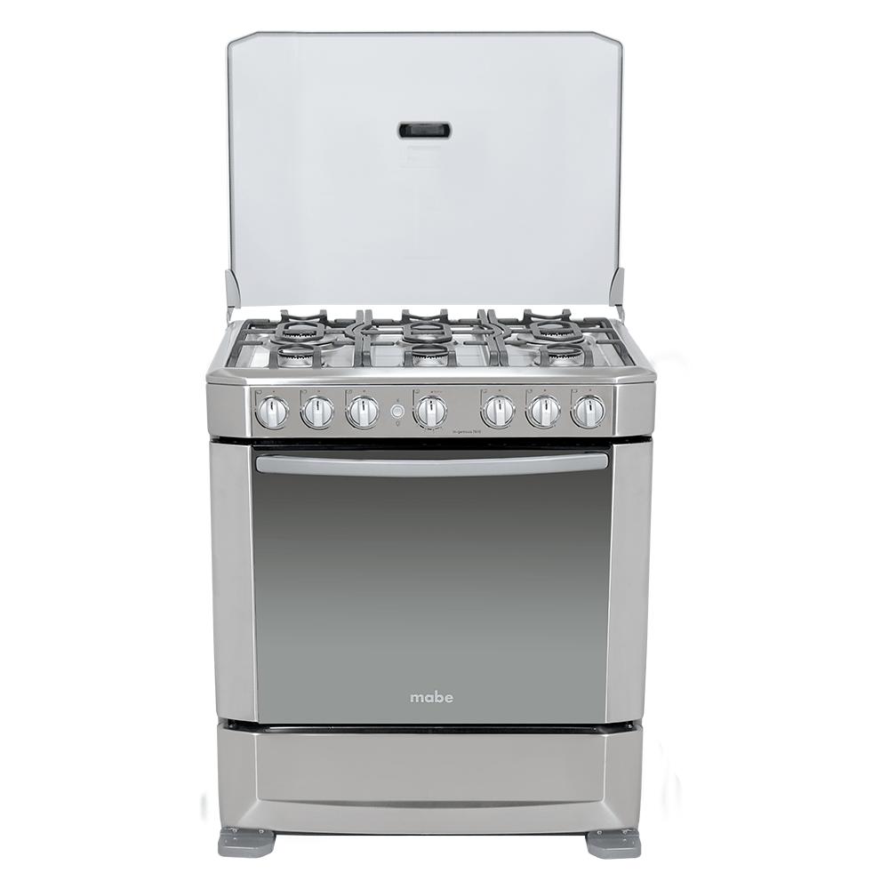 Cocina a Gas Mabe Ingenious7610EX0   6 Quemadores - Horno - Limpieza ...